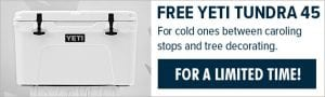free yeti for buying a quantech or fraser-johnston product