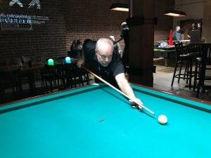 ron ellis playing pool