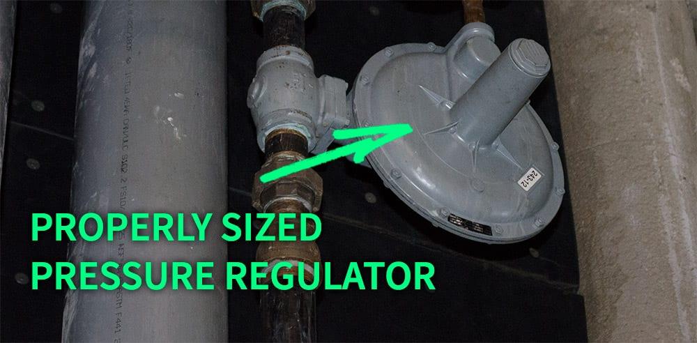 HVAC boiler pressure regulator