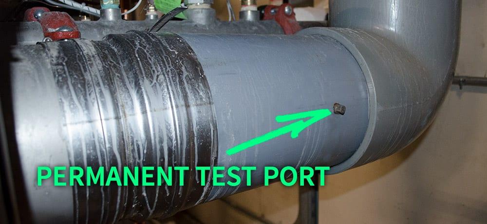 HVAC boiler test port