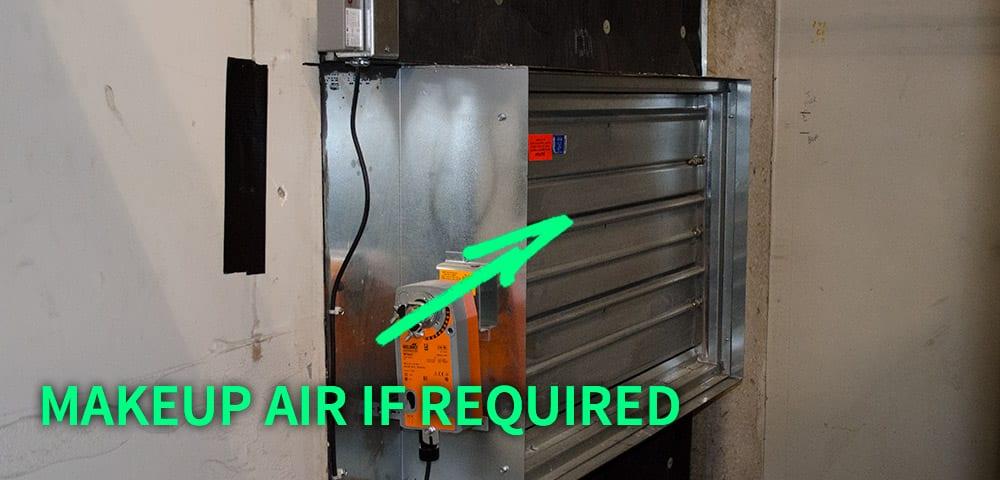 HVAC boiler make-up air