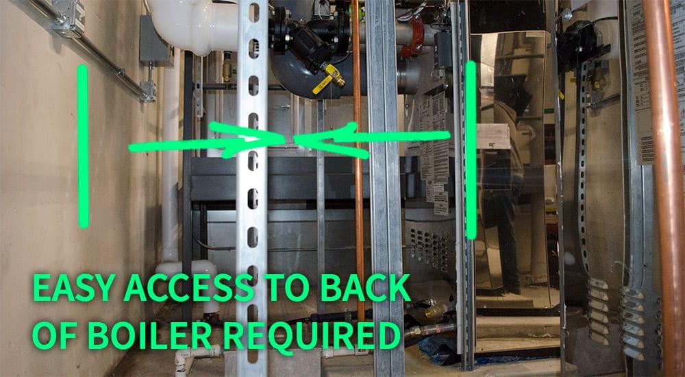 HVAC boiler easy access