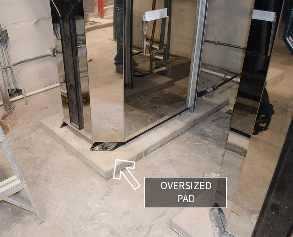boiler concrete pad