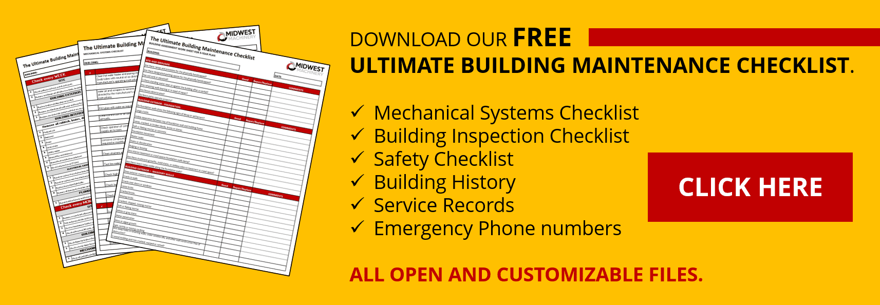 HVAC building maintenance checklist