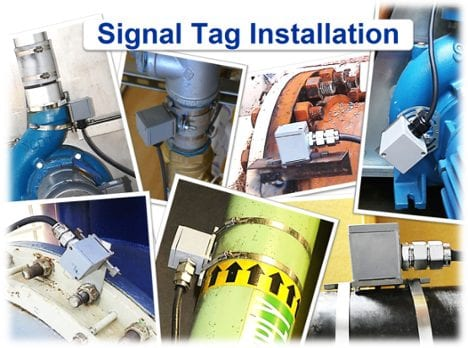 water treatment signal tag installation