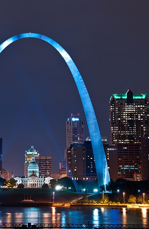 saint louis at night