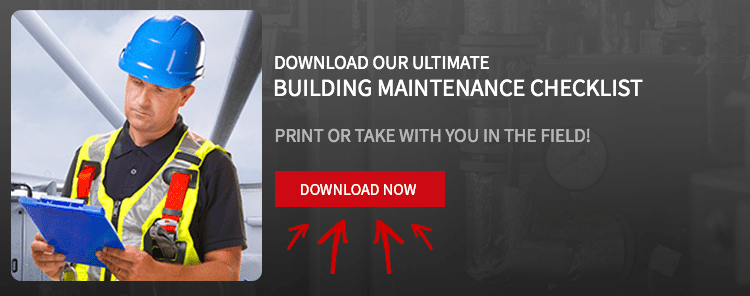building maintenance checklist banner for file download