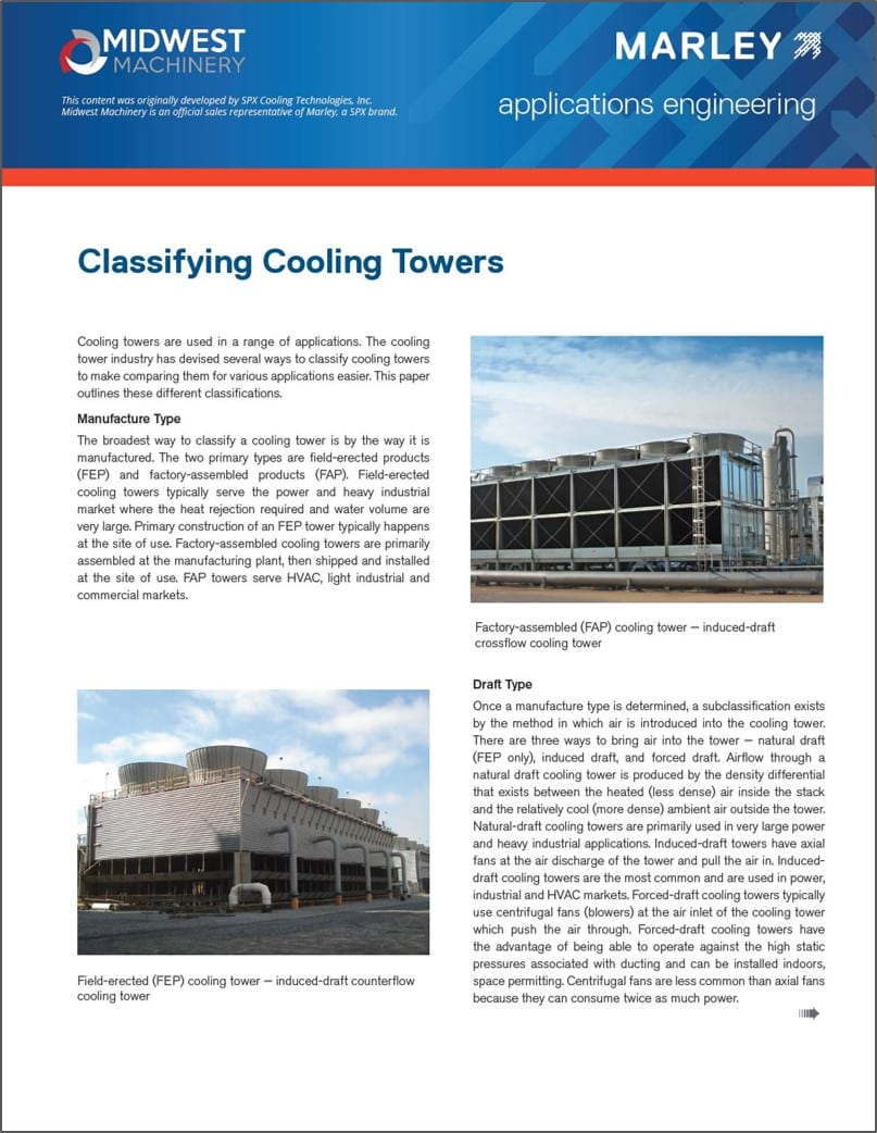 Download Our Cooling Tower Classification Guide Midwest