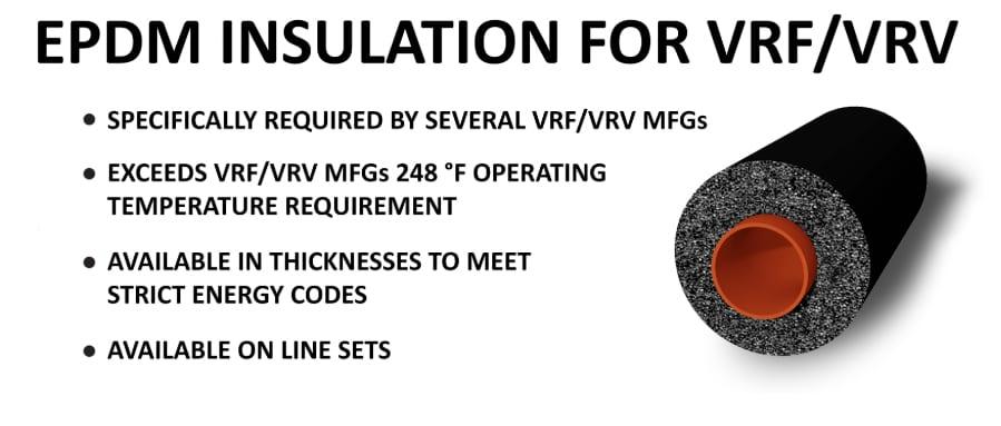 Reftekk insulation for VRF systems