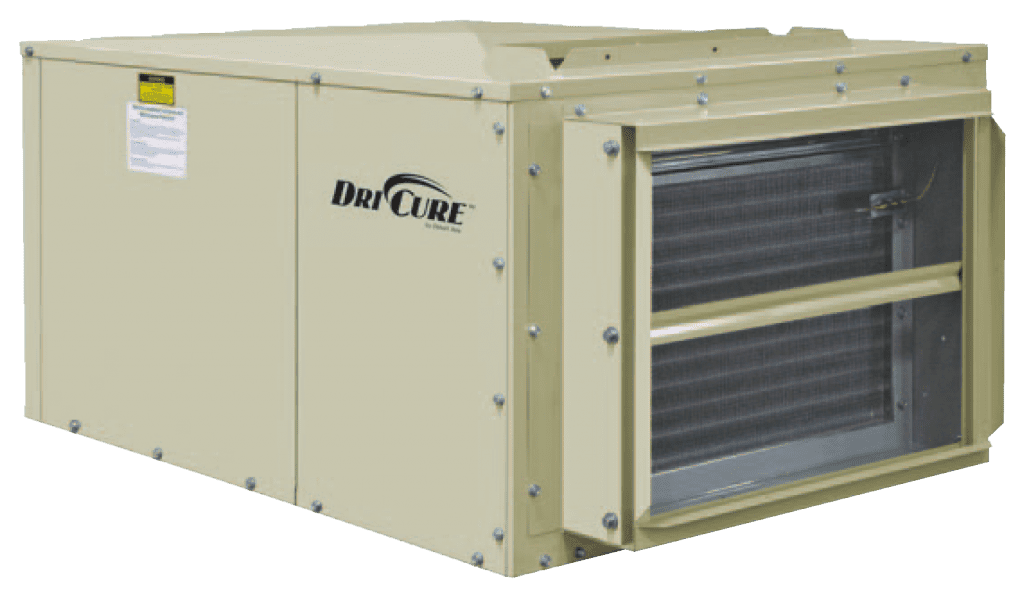 Image of DriCure equipment from DesertAire, designed specifically for Cannabis Drying Rooms